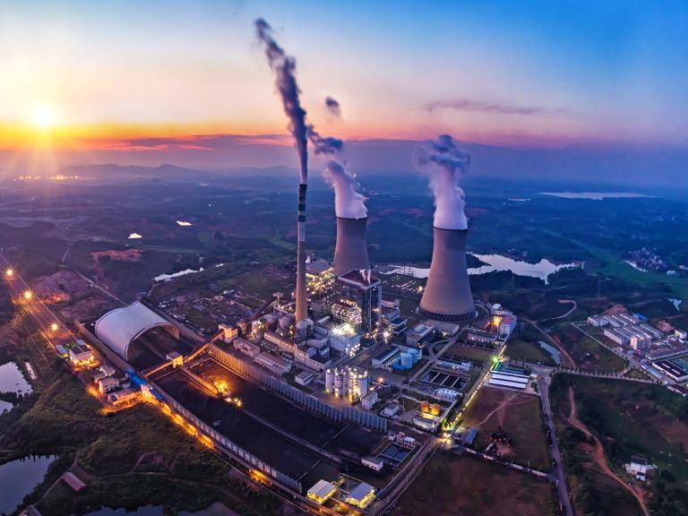 Panorama budynków industrialnych